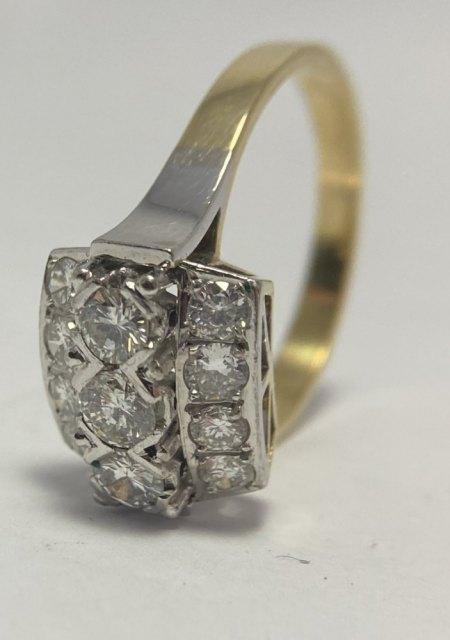 Goldring mit 11 Diamanten