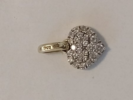 Wert Diamantanhänger 585 0.320 Karrat