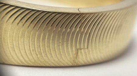 Goldarmreif aus 585er Gold - Punze?