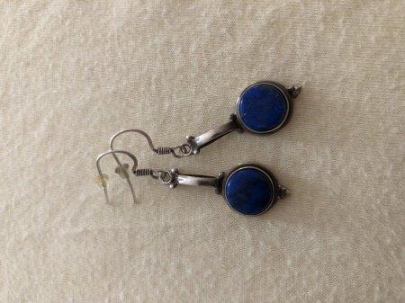 Antike Ohrringe - blau/Silber - bitte um Altersschätzung