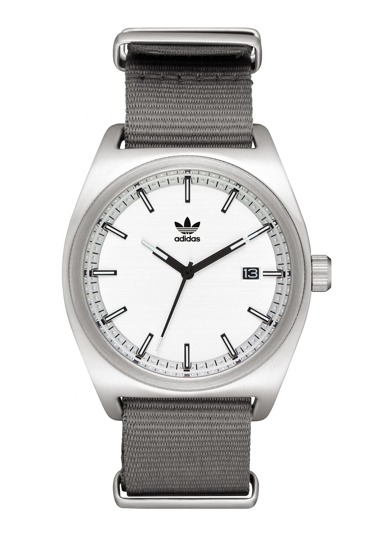Adidas Process Silver / Black / Gray Armbanduhr