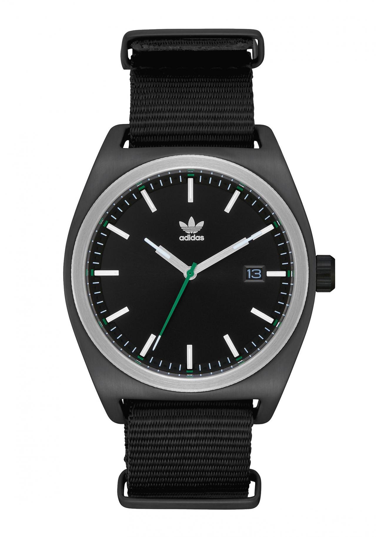 Adidas Process Black / Silver / Green / Black Armbanduhr