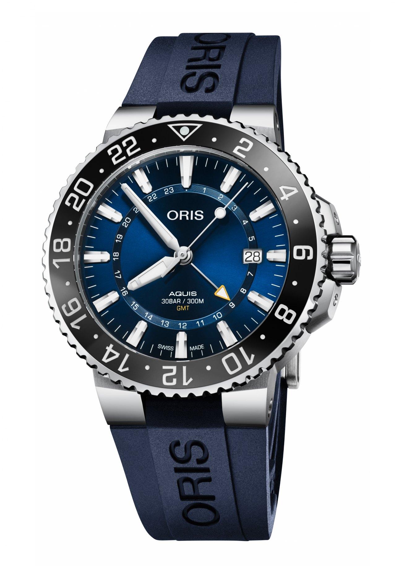 Oris Herrenuhr Aquis GMT Date